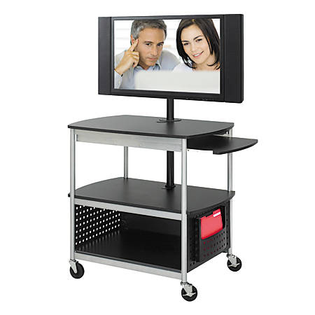 Safco® Scoot™ Mobile Audio/Visual Cart, Black