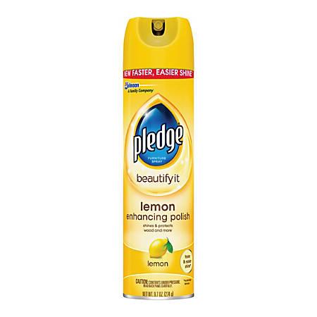 Pledge Lemon Clean Furniture Spray 97 Oz By Office Depot Officemax