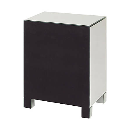 Office Star Avenue Six Reflections 3 Drawer Mirrored Accent Table Rectangle