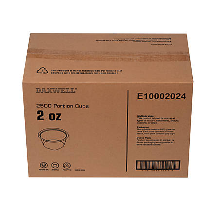 Portion Cups, 2 Oz, 10 Per Pack, Carton Of 250 Packs