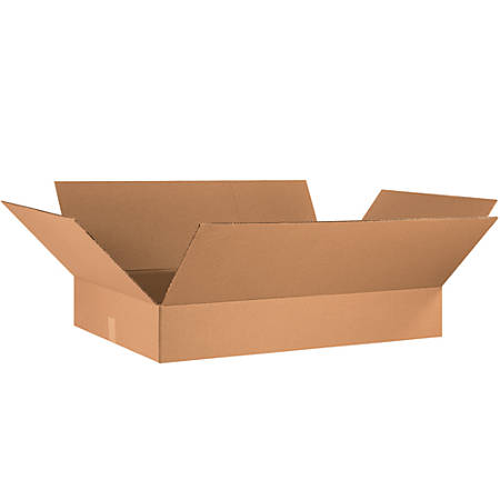 """Office Depot® Brand Flat Corrugated Boxes, 6""""H x 21""""W x 34""""D, Kraft, Pack Of 10"""
