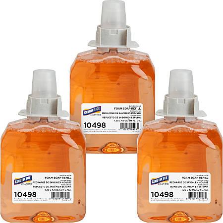 Genuine Joe Antibacterial Foam Soap Dispenser Refill, Orange Blossom, 42 Oz, Pack Of 3