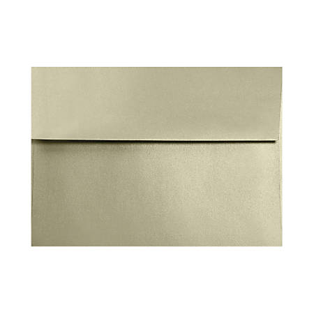 """LUX Invitation Envelopes With Moisture Closure, A6, 4 3/4"""" x 6 1/2"""", Silversand, Pack Of 50"""