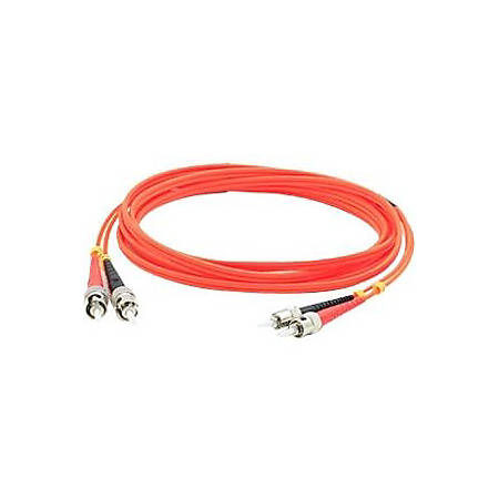 AddOn 2m ST (Male) to ST (Male) Orange OM1 Duplex Fiber OFNR (Riser-Rated) Patch Cable