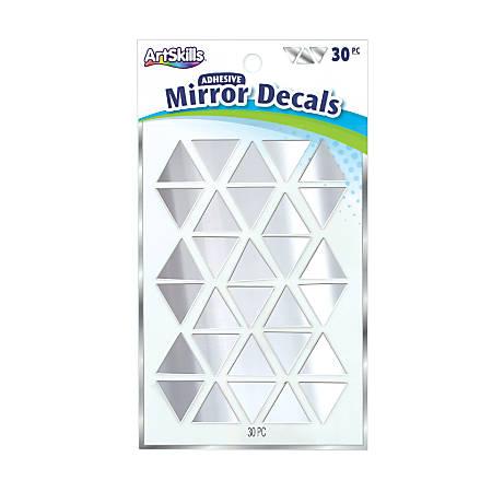 Artskills® Mirror Decals, Silver, Pack Of 30