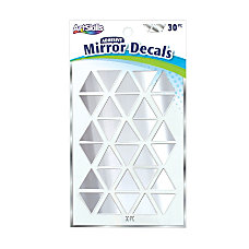 Artskills Mirror Decals Silver Pack Of
