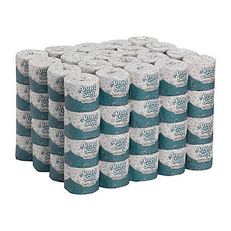 Angel Soft® Professional Series by GP Pro Premium 2-Ply Embossed Toilet Paper, 450 Sheets Per Roll, 80 Rolls Per Case