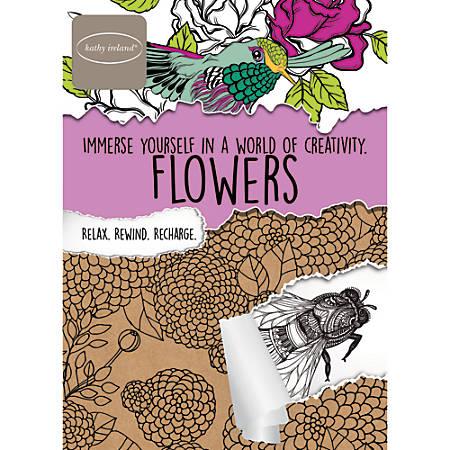 Bendon® Adult Coloring Book, Kathy Ireland Flowers