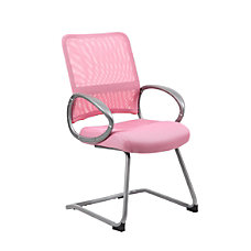 Boss Mesh Guest Chair PinkSilver