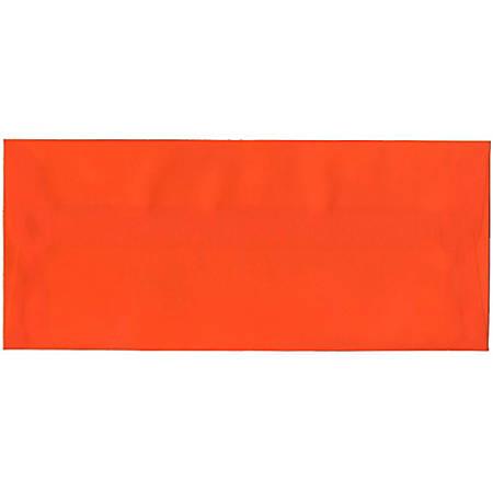 "JAM Paper® Translucent Business Booklet Envelopes With Moisture Seal Closure, #10, 4 1/8"" x 9 1/2"", Orange, Pack Of 25"