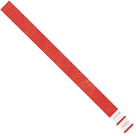 "Office Depot® Brand Tyvek® Wristbands, 3/4"" x 10"", Red, Case Of 500"