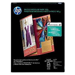 HP Inkjet Tri Fold Brochure Paper