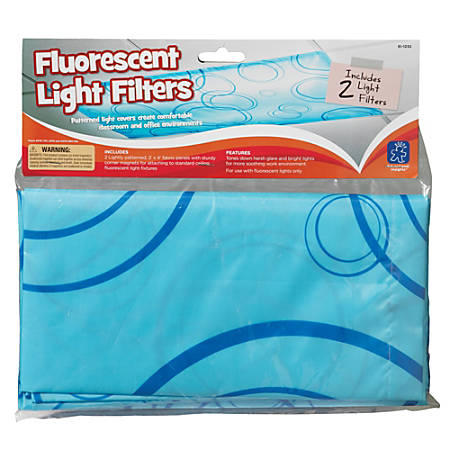 "Educational Insights® Fluorescent Light Filters, 36"" x 24"", Blue, Pre-K - College, Pack Of 2"