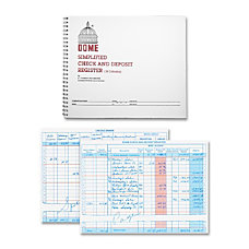 Dome Simplified Check And Deposit Register