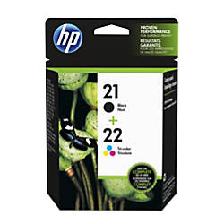 HP 2122 BlackTricolor Ink Cartridges C9509FN