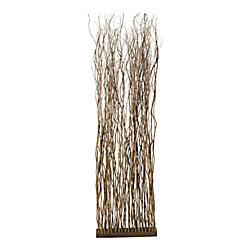"Realspace™ Bamboo Willow Screen, 72""H x 18""W x 6""D, Tan"