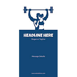 Custom Vertical Banner Weight Lifting