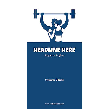 Custom Vertical Banner, Weight Lifting