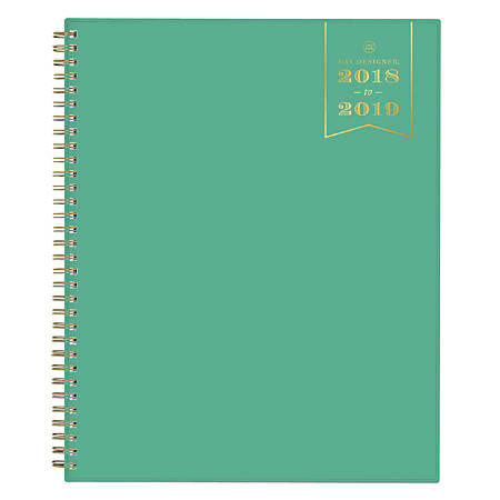 """Day Designer For Blue Sky™ Weekly/Monthly Planner, 11"""" x 8 1/2"""", Jade, July 2018 to June 2019"""