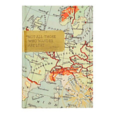Eccolo Map Travel Journal 6 x