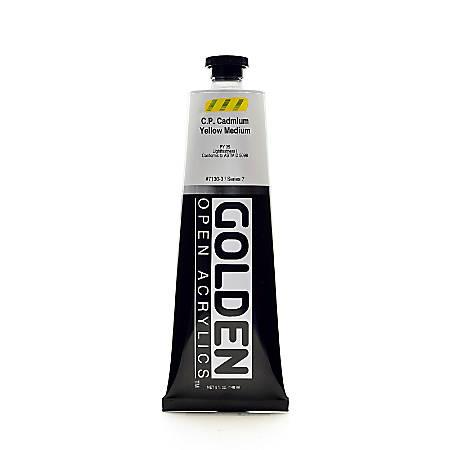 Golden OPEN Acrylic Paint, 5 Oz Tube, Cadmium Yellow Medium (CP)