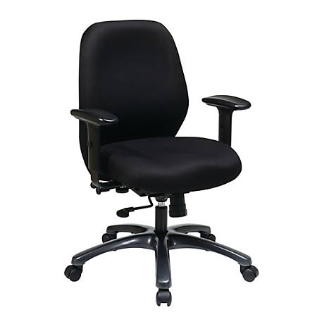 "Office Star™ ProLine II Adjustable Fabric Executive Chair, 41 1/2""H x 25""W x 25""D, Black"