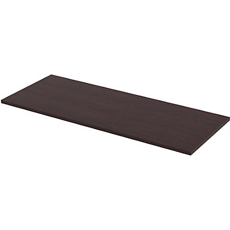 "Lorell® Quadro Sit-To-Stand Laminate Table Top, 60""W x 24""D, Espresso"
