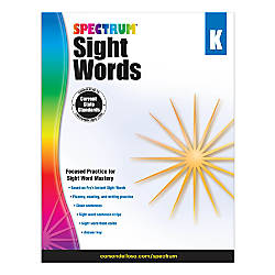 Spectrum Sight Words Kindergarten