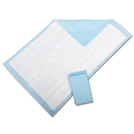 "Protection Plus® Fluff-Filled Disposable Underpads, Economy, 23"" x 36"", 25 Underpads Per Bag, Case Of 6 Bags"