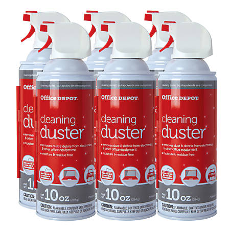 Office Depot® Brand Cleaning Dusters, 10 Oz., Pack Of 6