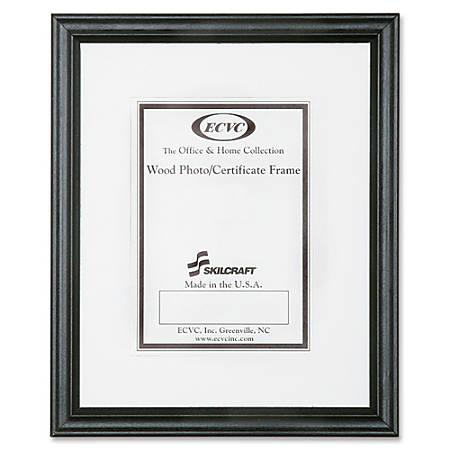 "SKILCRAFT® Style A Ready-Made Wood Frames, 8 1/2"" x 11"", Black, Box Of 12 (AbilityOne 7105-00-052-8689)"