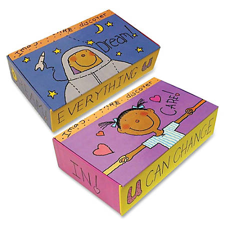 """Aurora Kids Works Pencil Storage Box - Internal Dimensions: 8.38"""" Width x 4.81"""" Depth x 2.06"""" Height - External Dimensions: 8.6"""" Width x 5"""" Depth x 2.3"""" Height - x Pencil - Hinge Lid Closure - Paperboard - Multicolor - For Pencil - Recycled - 12 / Carton"""