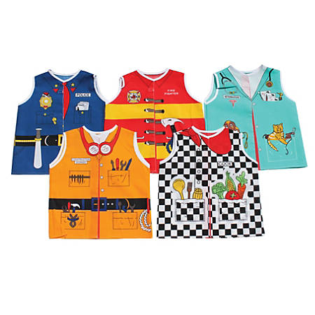 Dexter Educational Toys Career Toddler Dress-Up Set, Firefighter, Cook, Construction, Vet, Police, Grades Pre-K-2