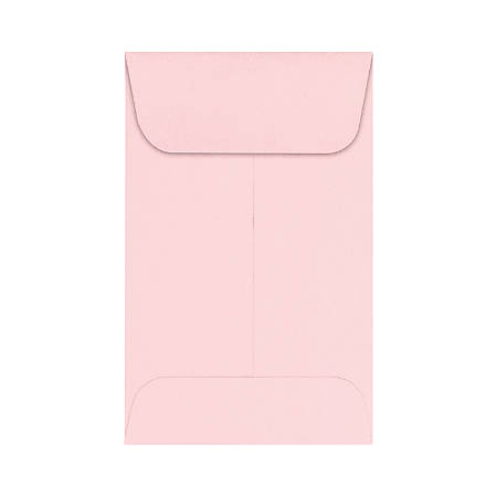 "LUX Coin Envelopes, #1, 2 1/4"" x 3 1/2"", Candy Pink, Pack Of 500"