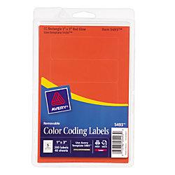 avery removable laserinkjet organization labels color coding 5493 1