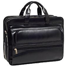 McKleinUSA ELSTON Leather Laptop Case Black