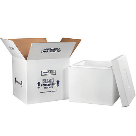 """Office Depot® Brand Insulated Shipping Kit, 15""""H x 16 3/4""""W x 16 3/4""""D, White"""