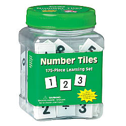 Eureka Learning Tool Tub Number Tiles
