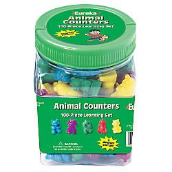 Eureka Learning Tool Tub Animal Counters