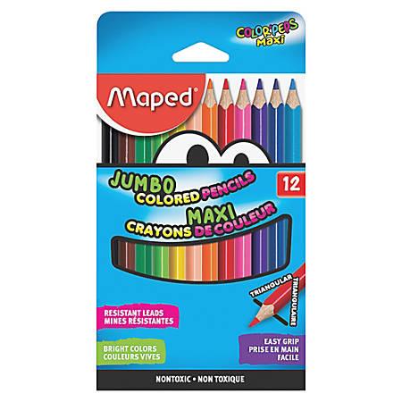 Helix Jumbo Colored Pencils - Assorted Barrel - 12 / Set