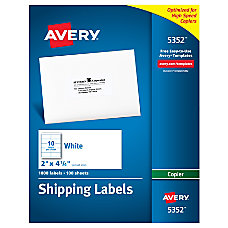 Avery Copier Permanent Address Labels 5352
