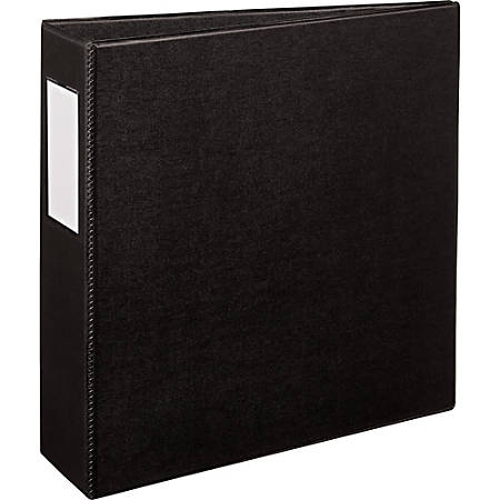 """Avery® Durable Binder With EZ-Turn™ Rings, 8 1/2"""" x 11"""", 3"""" Rings, 45% Recycled, Black"""