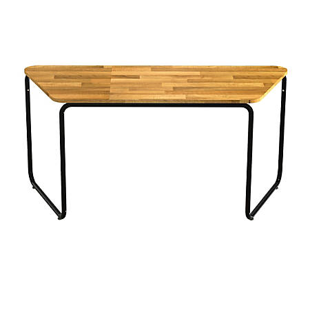 Safco® Connect™ Teaming Series Table, Work Table, Trapezoid, Natural/Black