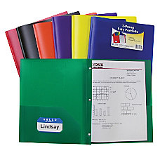 C Line 2 Pocket Poly Portfolios