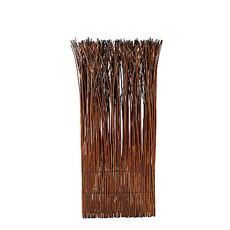 """Realspace™ Bamboo Willow Screen, 48""""H x 21-1/2""""W x 7""""D, Brown"""