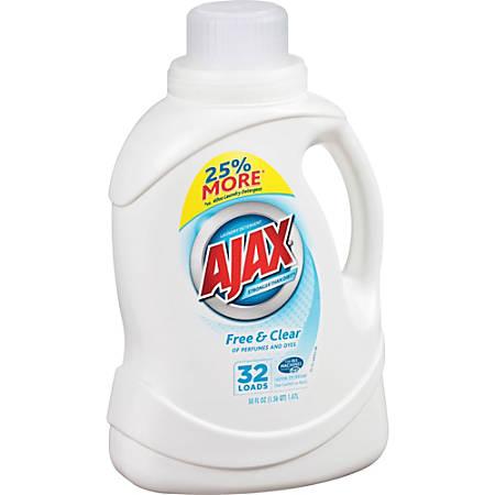 AJAX Free/Clear Liquid Laundry Detergent - 0.39 gal (49.71 fl oz) - 1 Each - Clear