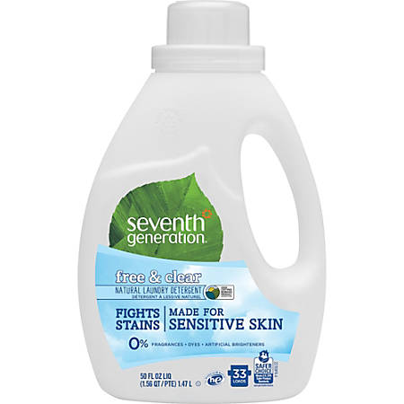 Seventh Generation 50 oz. Natural Laundry Detergent - Concentrate Powder - 50 oz (3.12 lb) - Free & Clear Scent - 6 / Carton - Clear