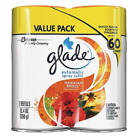 Glade Automatic Spray Refill Value Pack - Spray - 12.4 fl oz (0.4 quart) - Hawaiian Breeze - 60 Day - 2 / Pack - Long Lasting