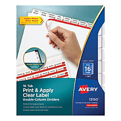 Avery Print Apply Clear Label Double