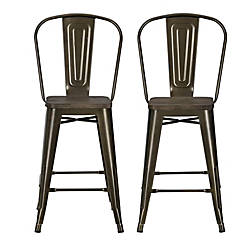 DHP Luxor Metal Counter Stool Bronze